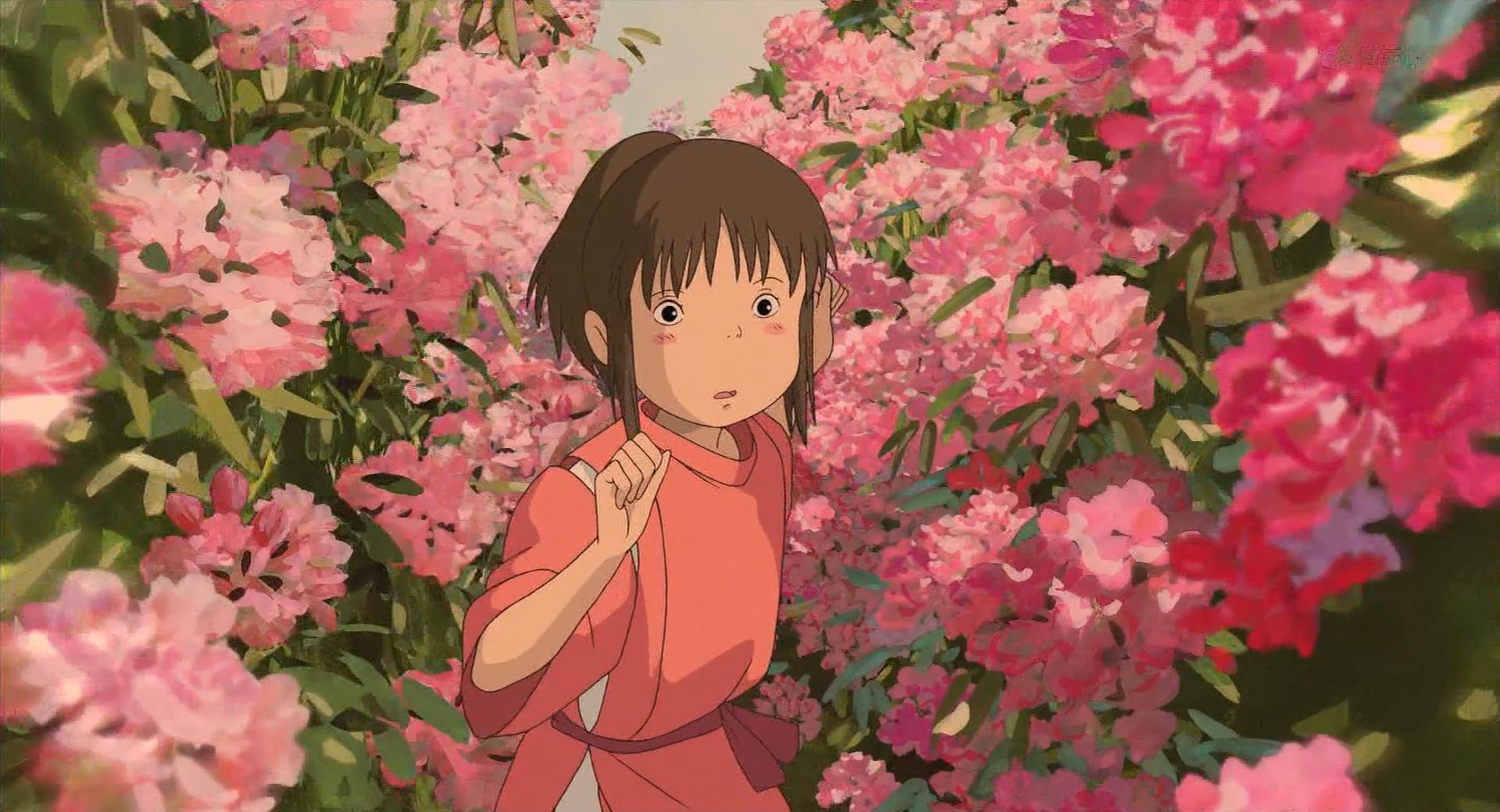 Spirited away flowers pink jpg